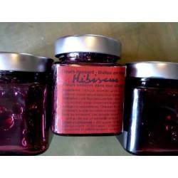 Fleurs d'hibiscus au sirop pour flûtes